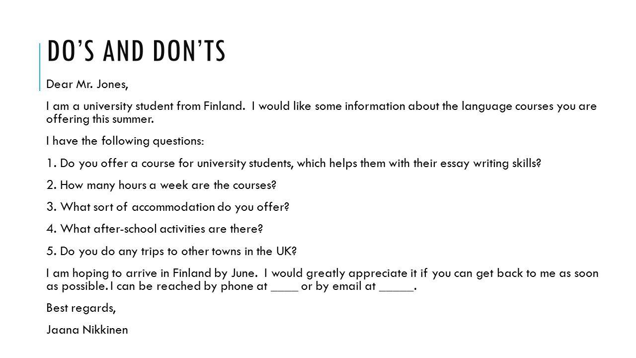 essay writing skills for university