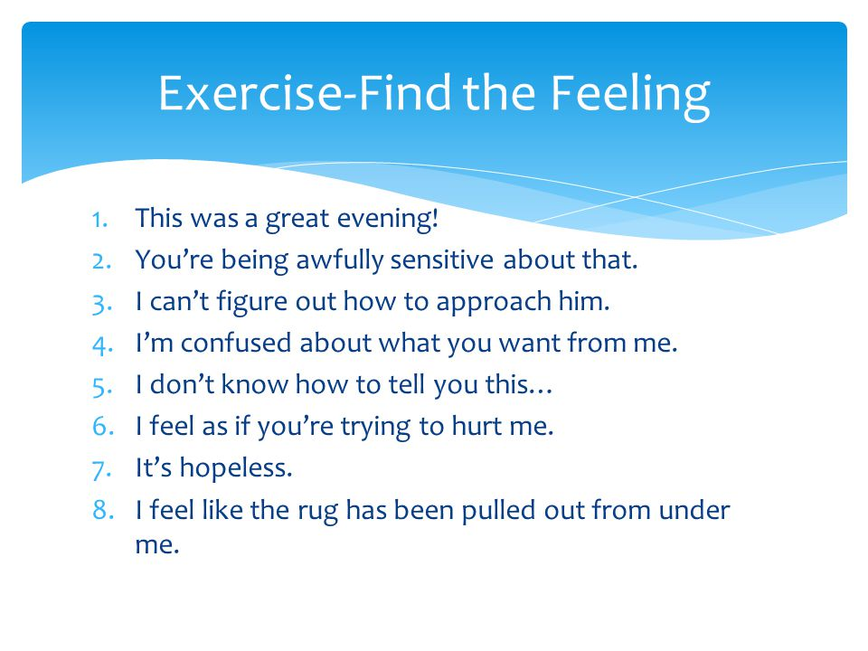 Exercise-Find the Feeling