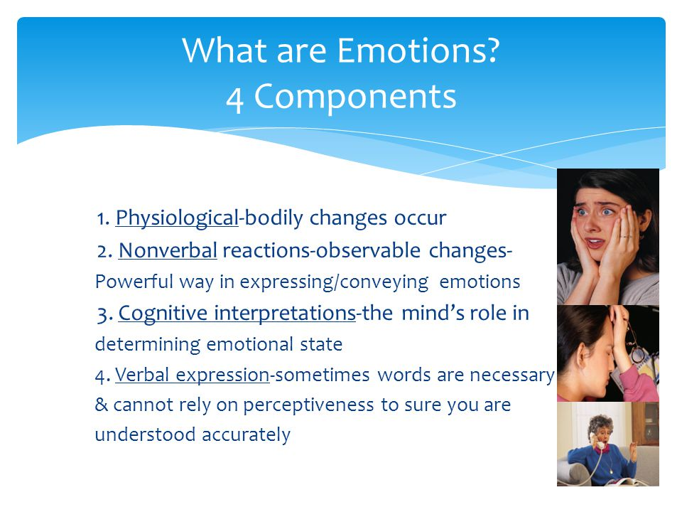 What are Emotions 4 Components