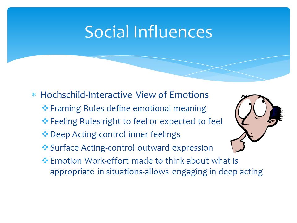 Social Influences Hochschild-Interactive View of Emotions