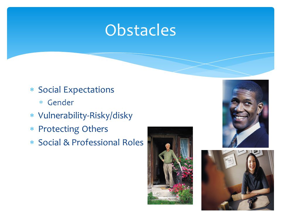 Obstacles Social Expectations Vulnerability-Risky/disky