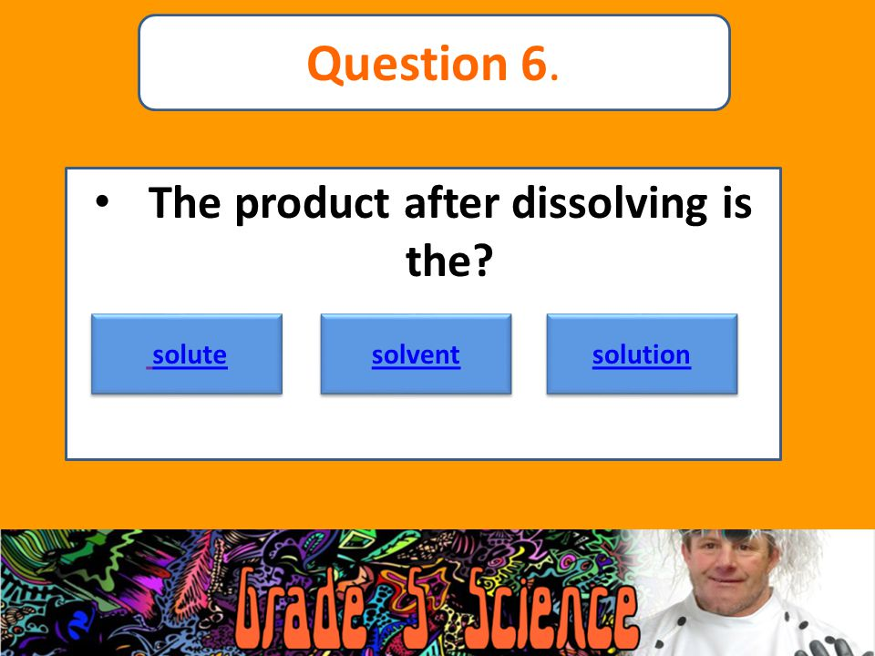 The product after dissolving is the