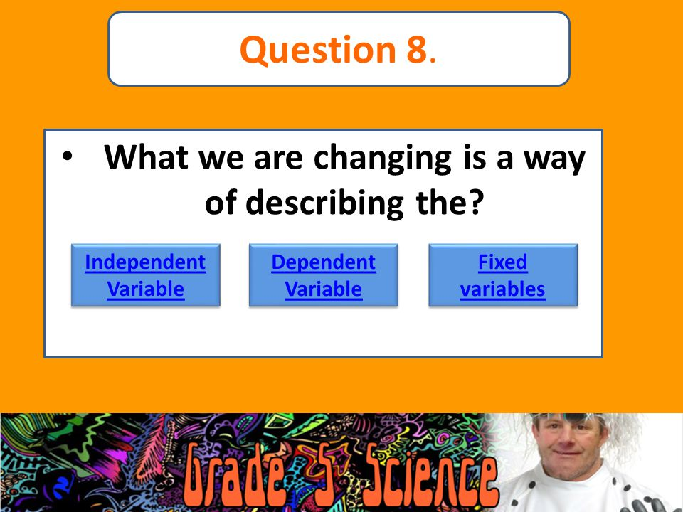 What we are changing is a way of describing the