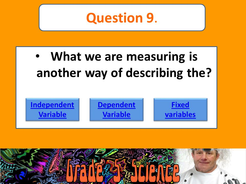 What we are measuring is another way of describing the