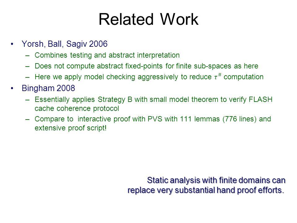 Related Work Yorsh, Ball, Sagiv 2006 Bingham 2008