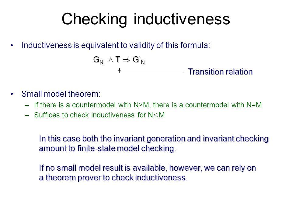 Checking inductiveness