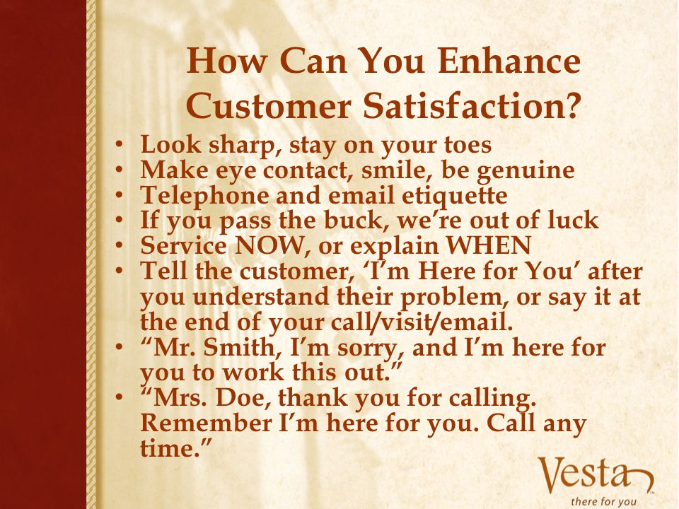 How Can You Enhance Customer Satisfaction
