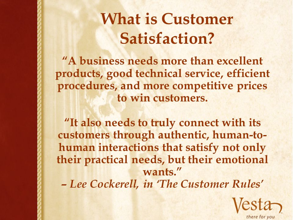 What is Customer Satisfaction