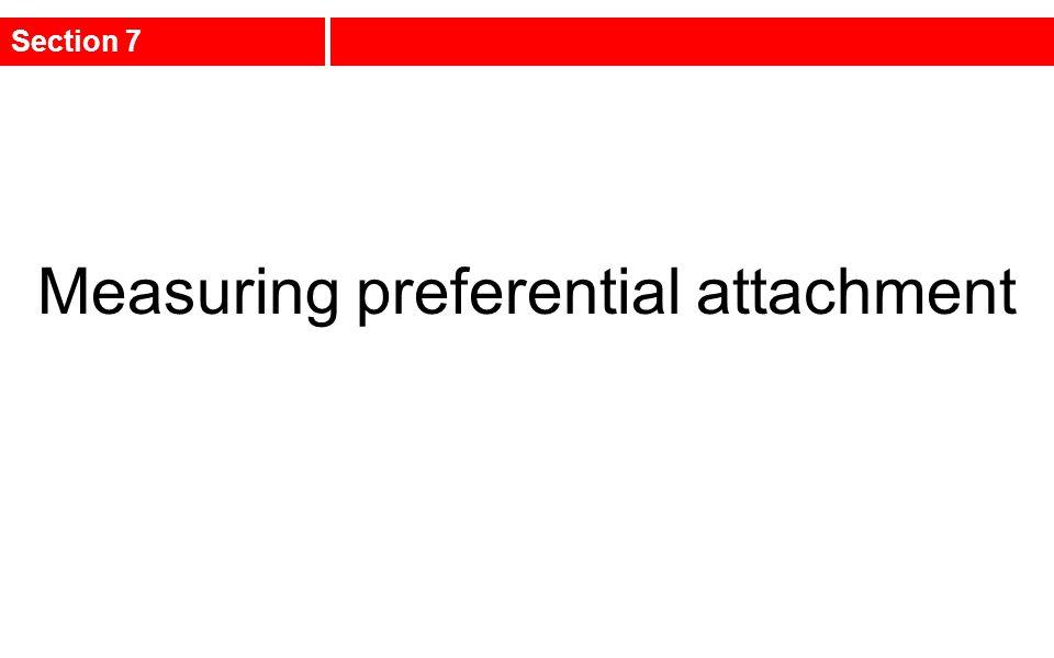 Measuring preferential attachment