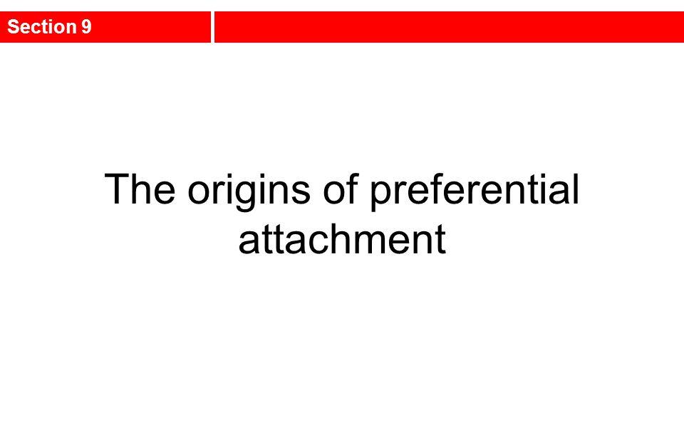The origins of preferential attachment