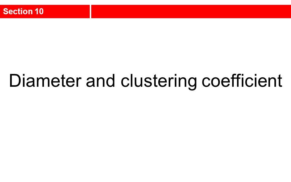 Diameter and clustering coefficient