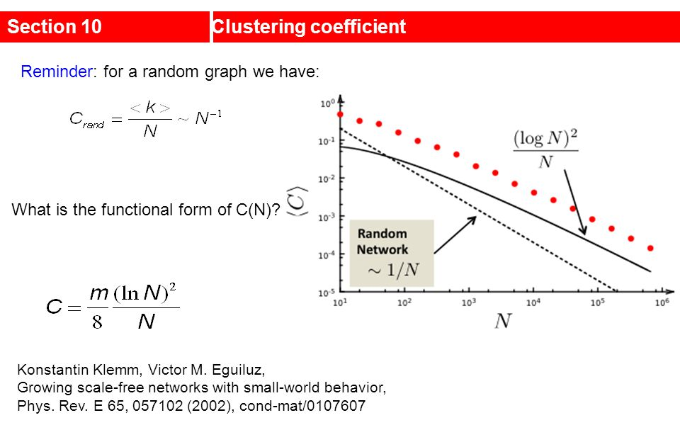 Section 10 Clustering coefficient