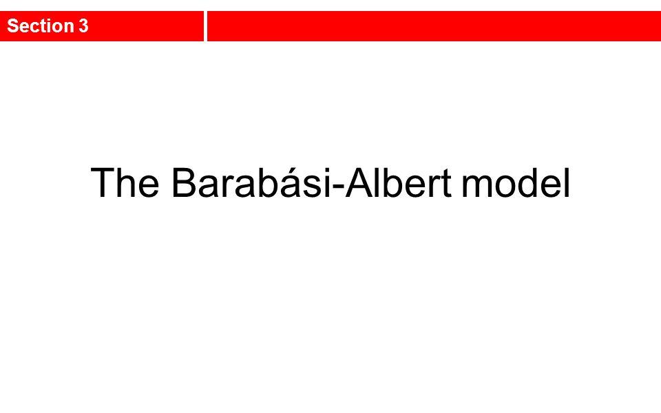 The Barabási-Albert model