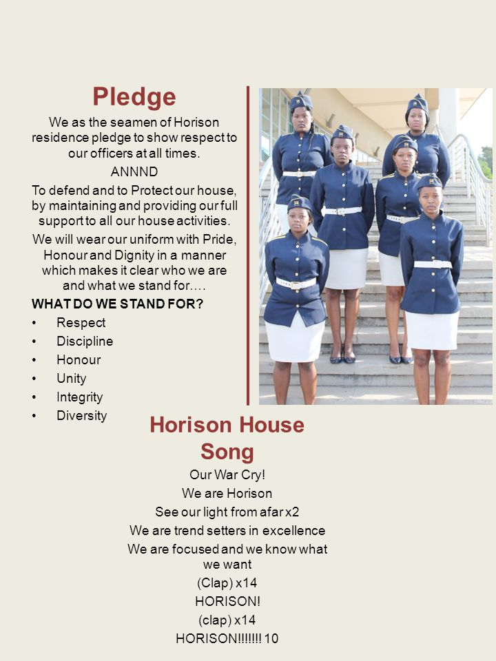 Pledge Horison House Song