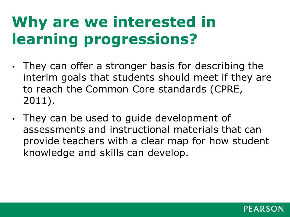 How are learning progressions developed and what do they look like