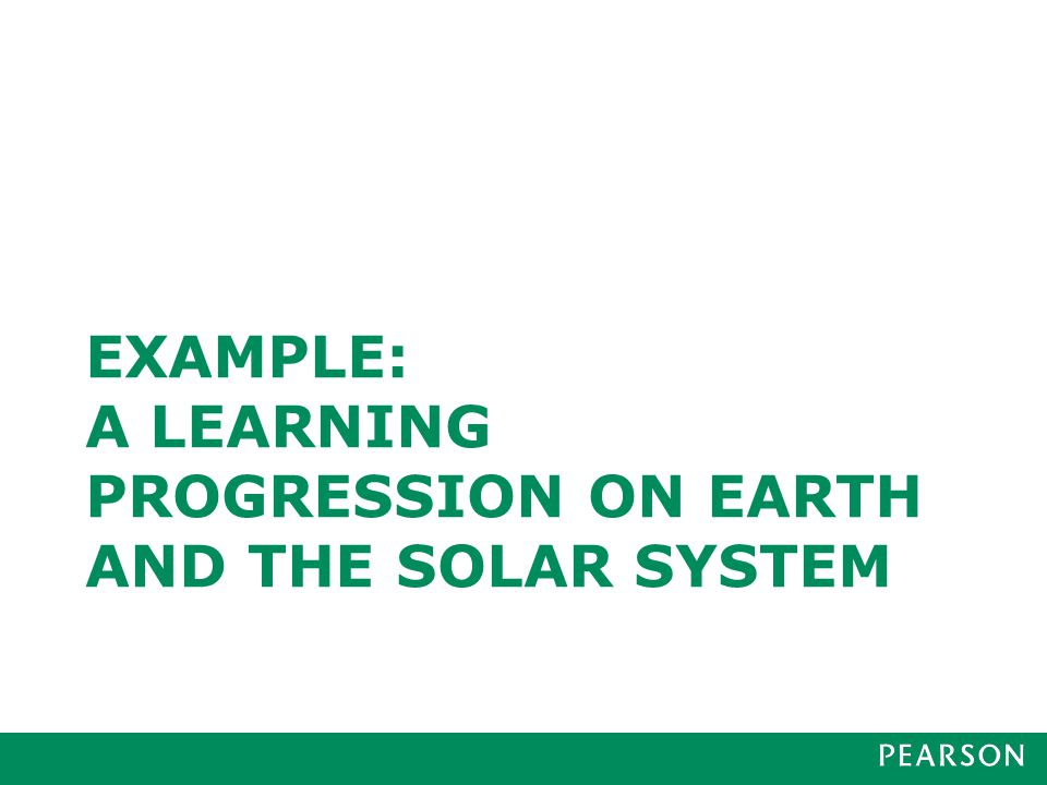 Learning Progression on Earth and the Solar System: LEVEL 1