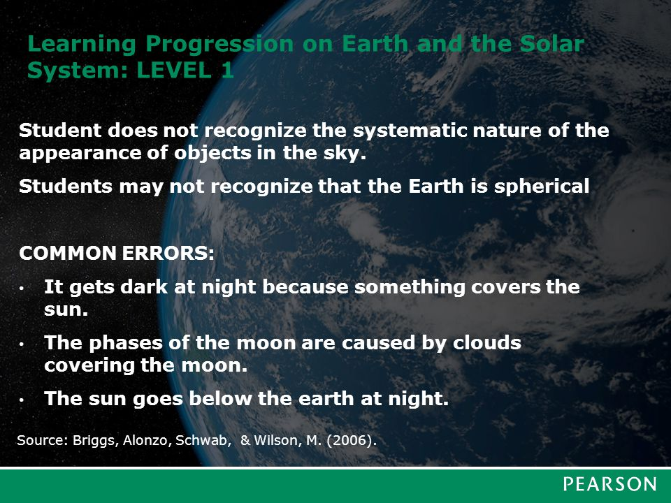 Learning Progression on Earth and the Solar System: LEVEL 2