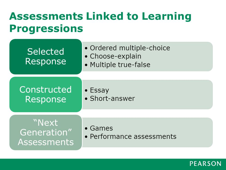 Use of learning progressions for instructional feedback