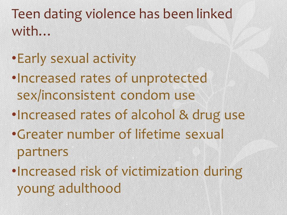 Teen dating violence has been linked with…