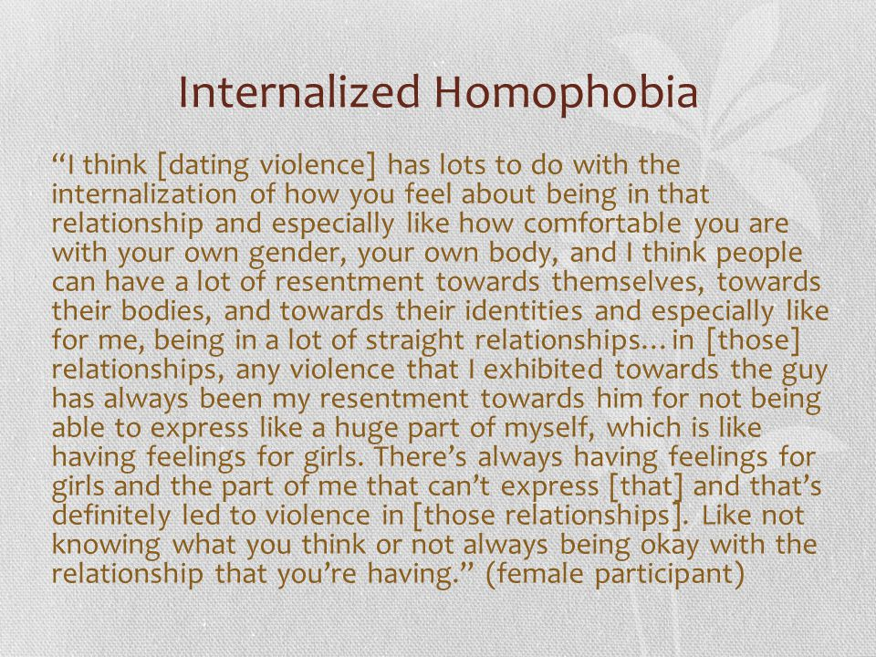 Internalized Homophobia