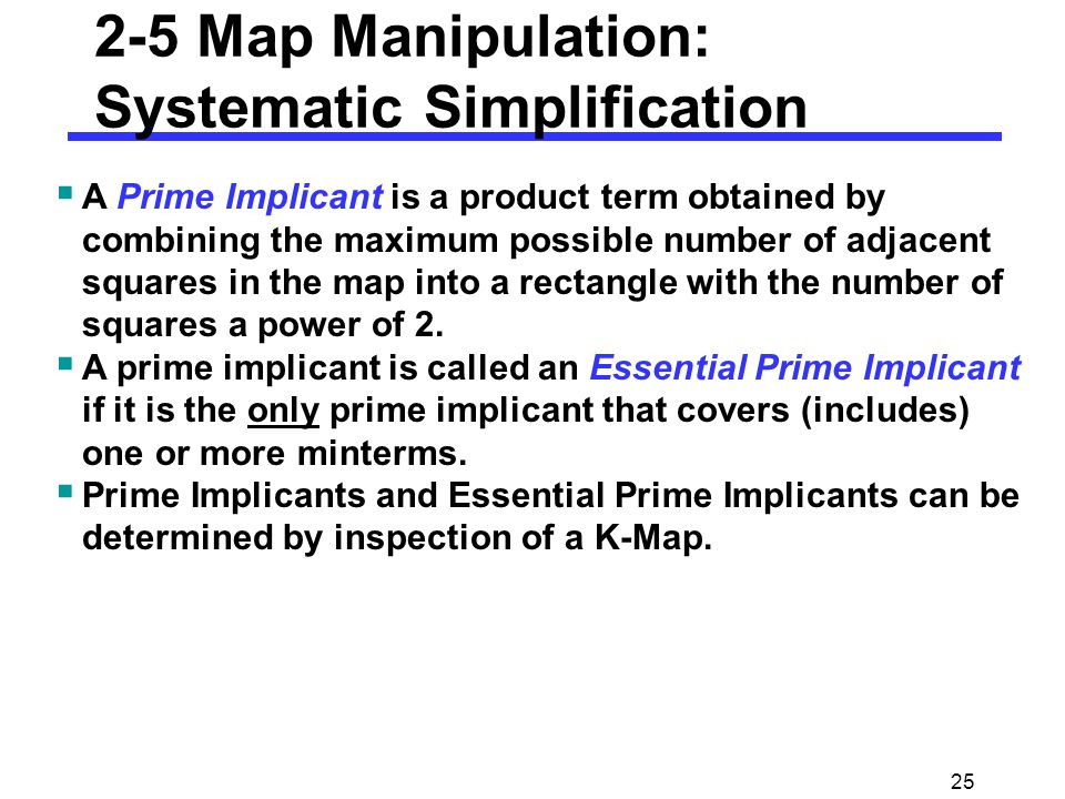 2-5 Map Manipulation: Systematic Simplification
