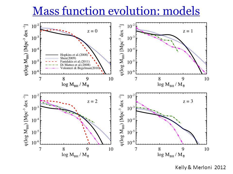 Mass function evolution: models