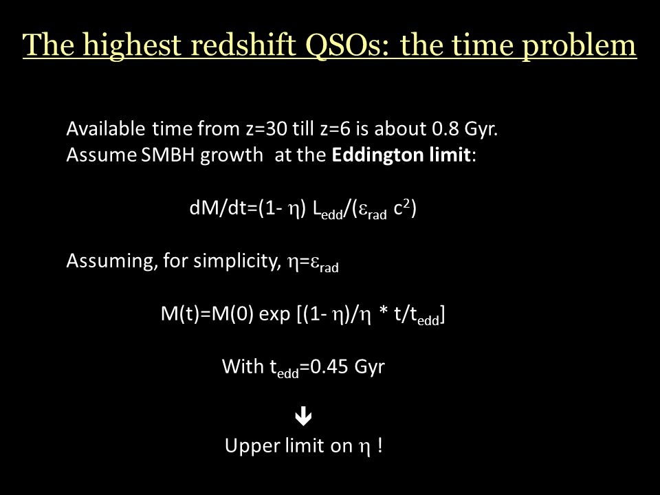 The highest redshift QSOs: the time problem