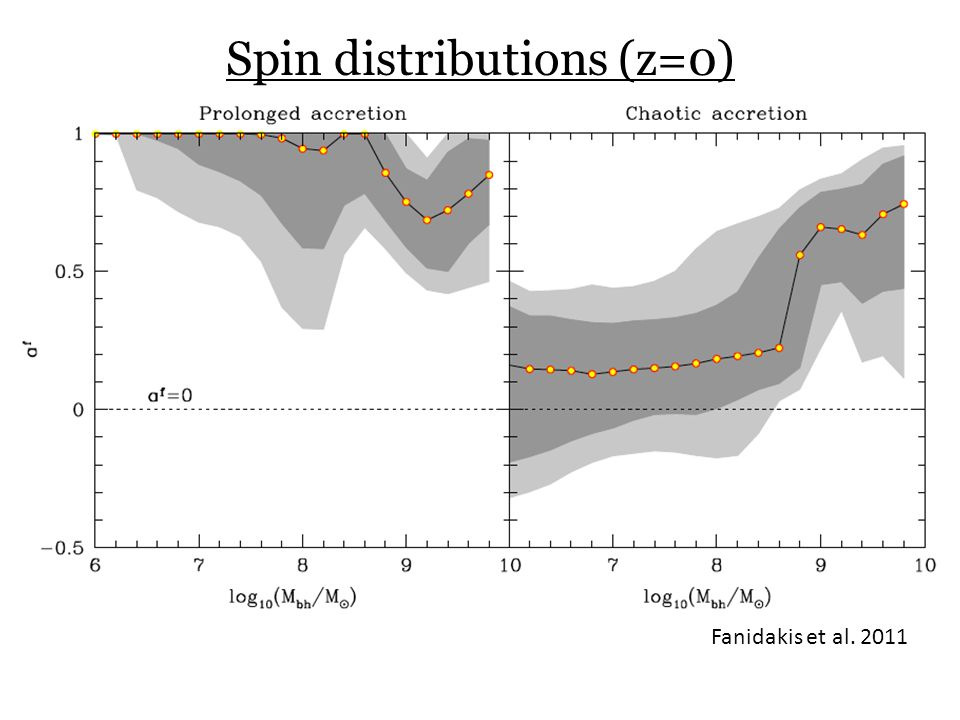 Spin distributions (z=0)