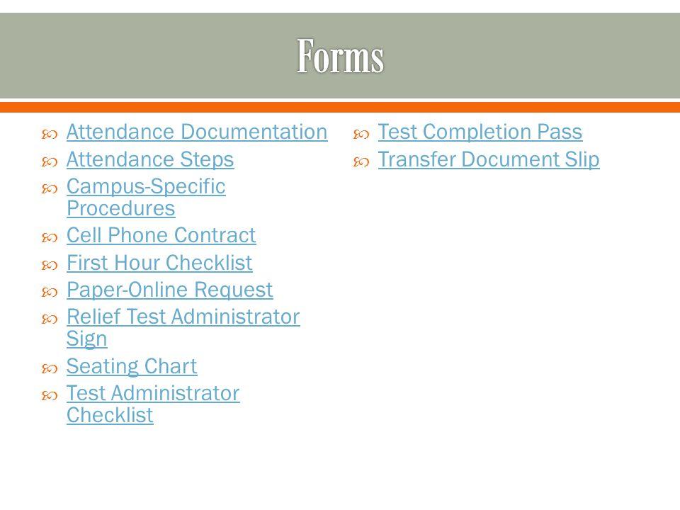 Forms Attendance Documentation Attendance Steps