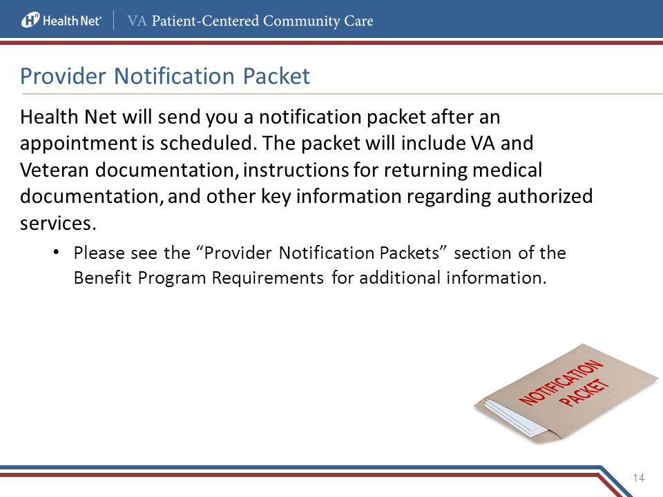 Provider Notification Packet