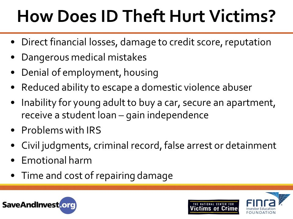 How Does ID Theft Hurt Victims