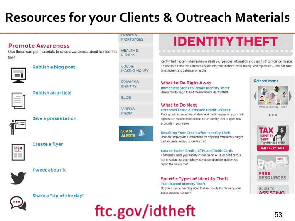 Resources for your Clients & Outreach Materials