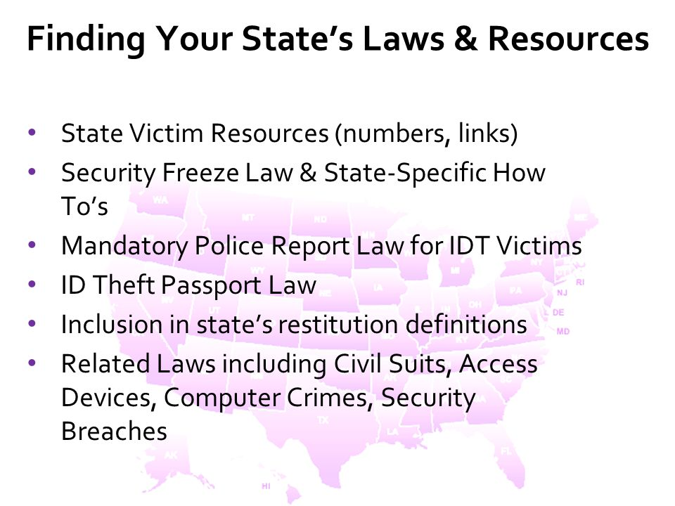 Finding Your State's Laws & Resources