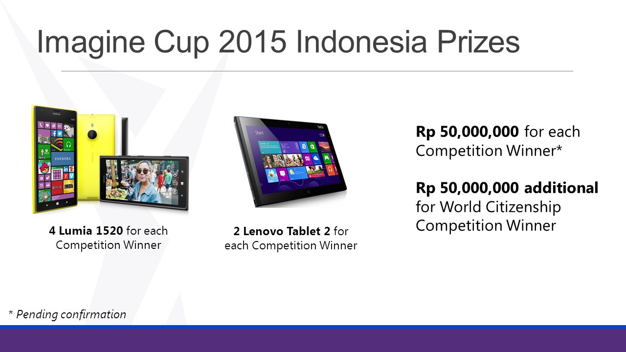 Imagine Cup 2015 Indonesia Prizes