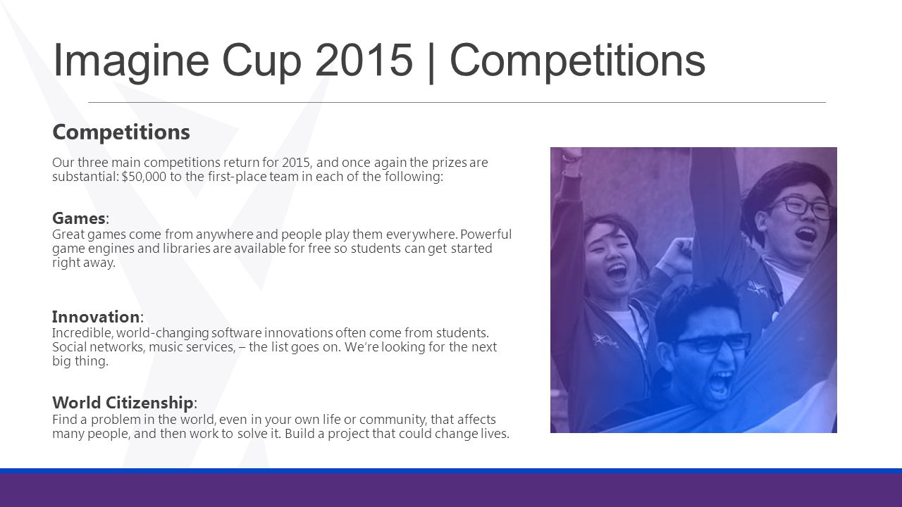 Imagine Cup 2015 | Competitions