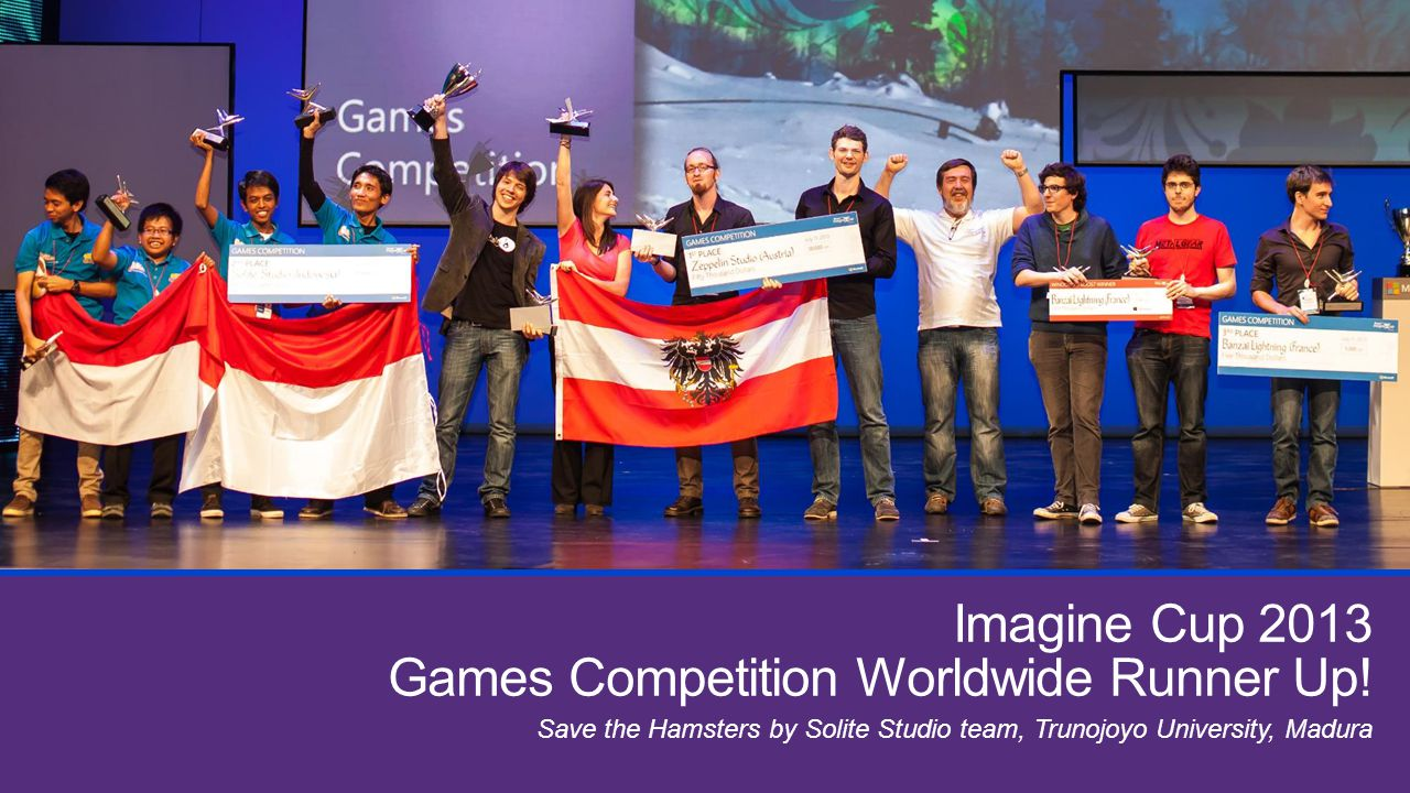 Imagine Cup 2013 Games Competition Worldwide Runner Up!