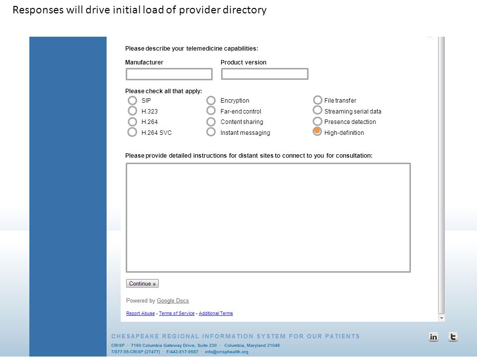Responses will drive initial load of provider directory