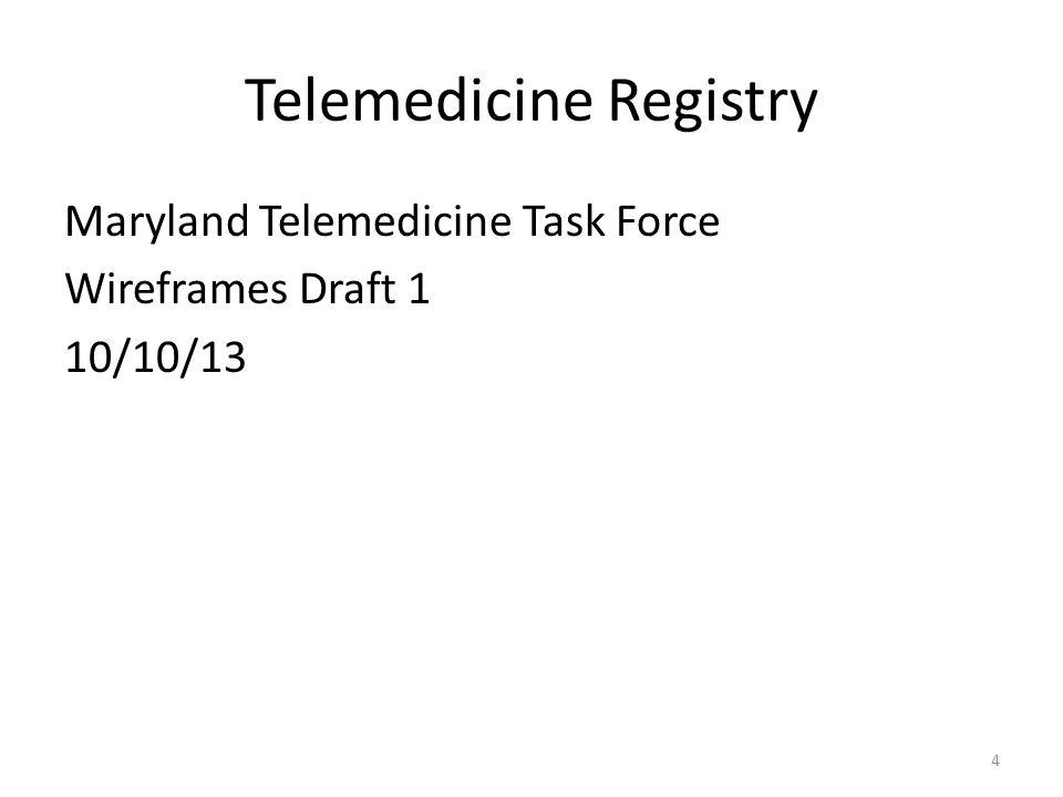 Telemedicine Registry