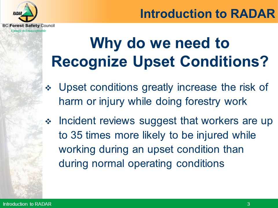 Recognize Upset Conditions