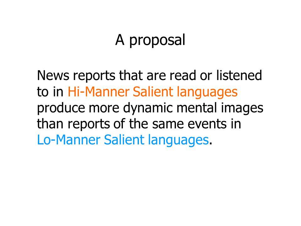 A proposal