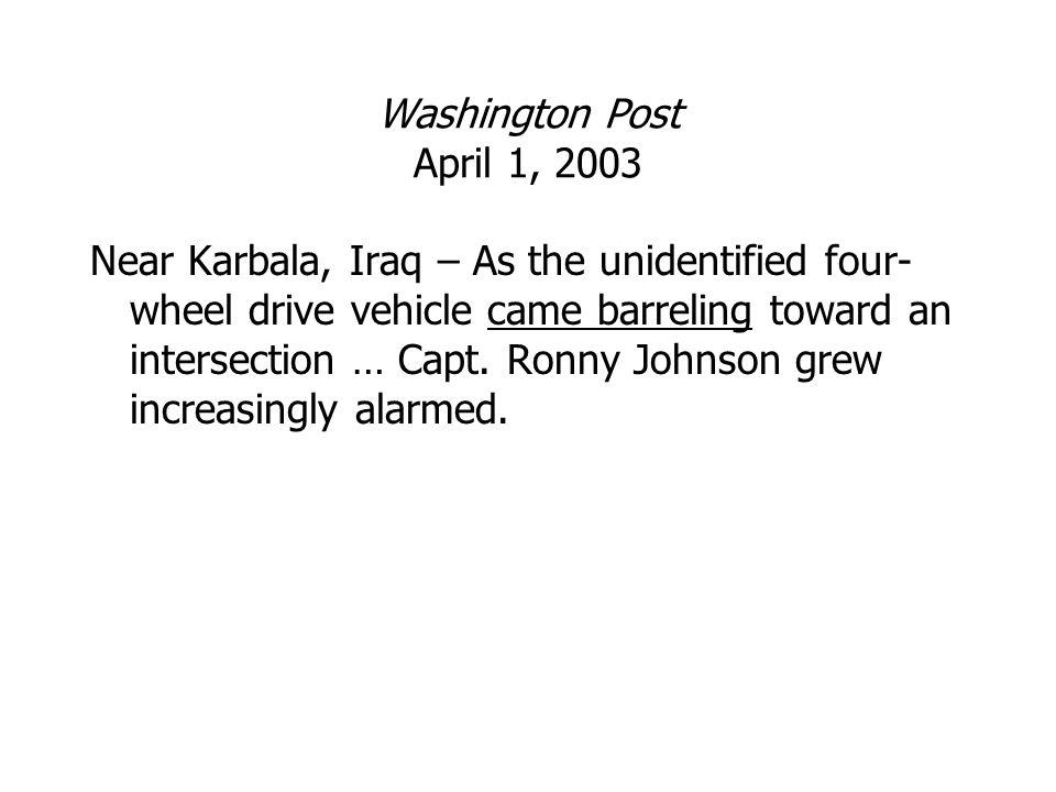 Washington Post April 1, 2003
