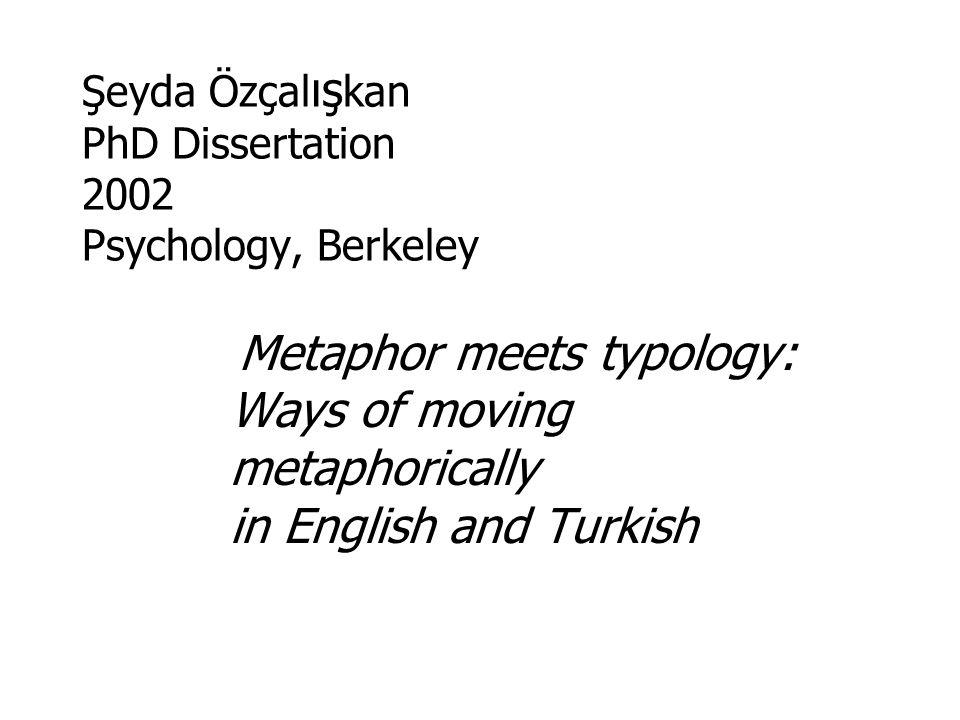 Şeyda Özçalışkan PhD Dissertation 2002 Psychology, Berkeley