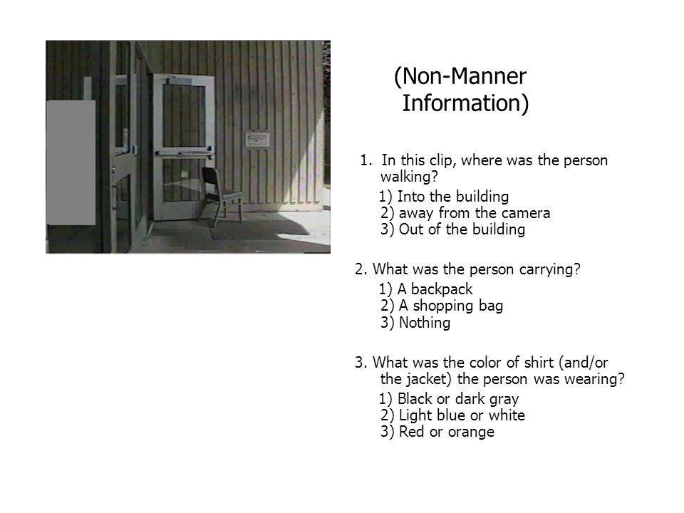 (Non-Manner Information)