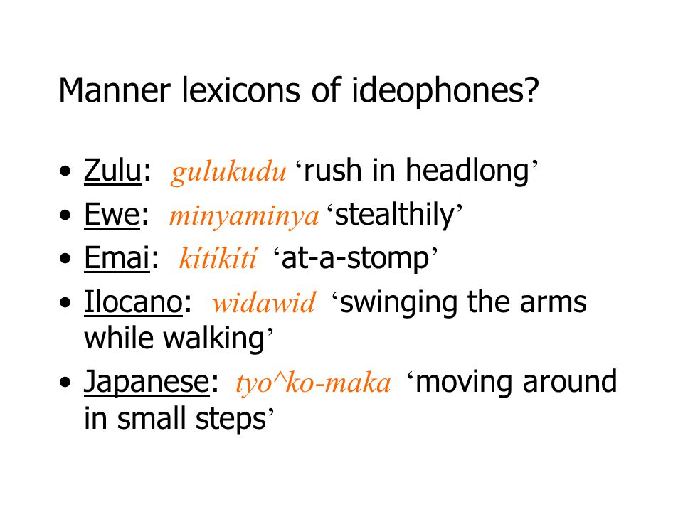 Manner lexicons of ideophones