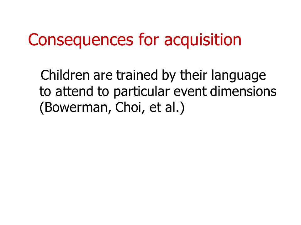 Consequences for acquisition