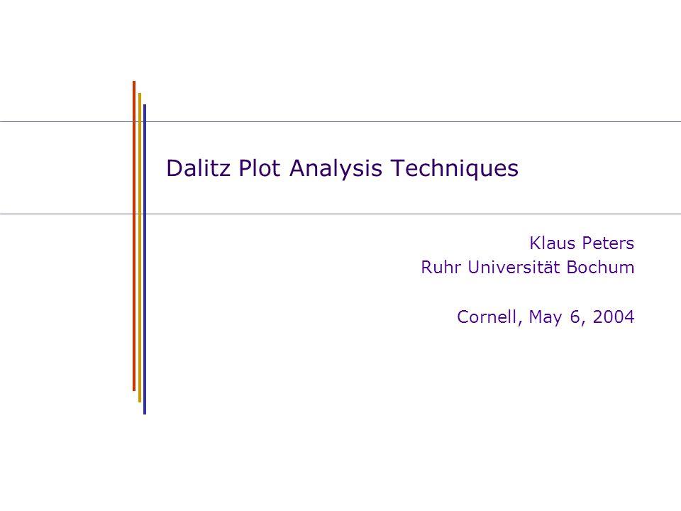 Dalitz Plot Analysis Techniques