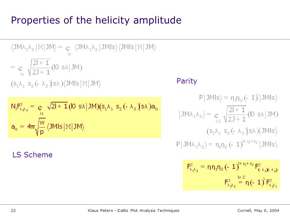 Properties of the helicity amplitude