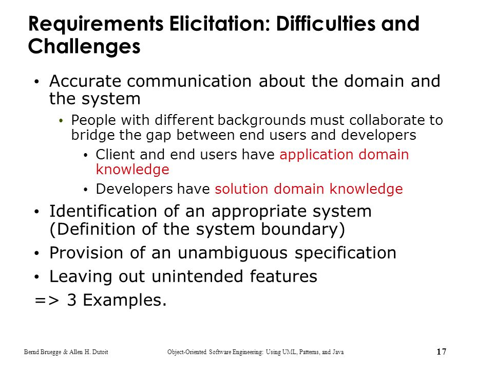 Requirements Elicitation: Difficulties and Challenges