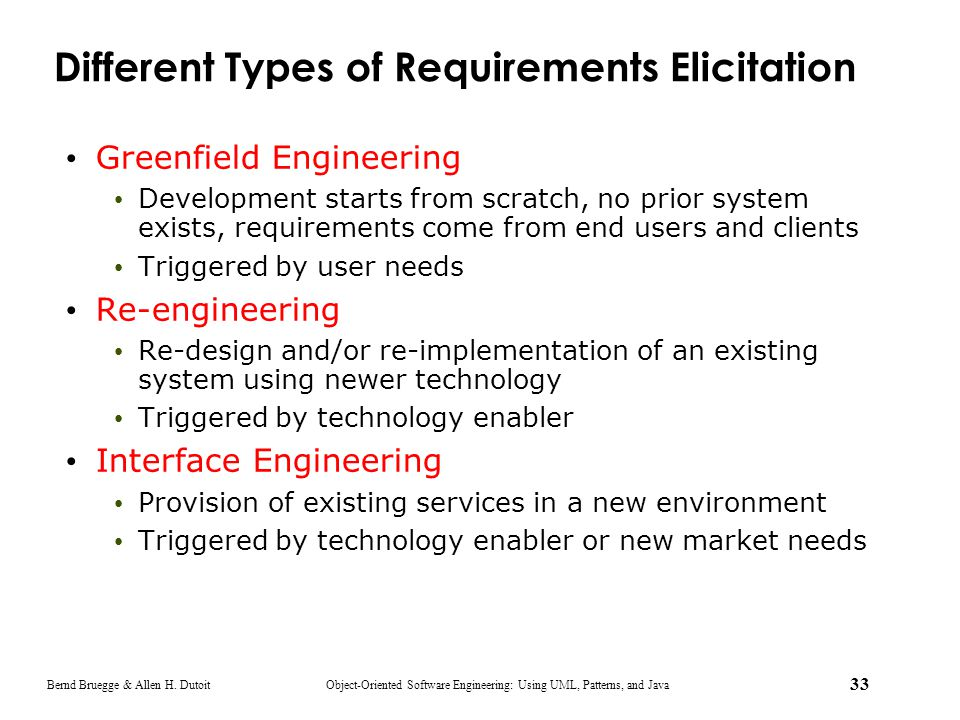 Different Types of Requirements Elicitation