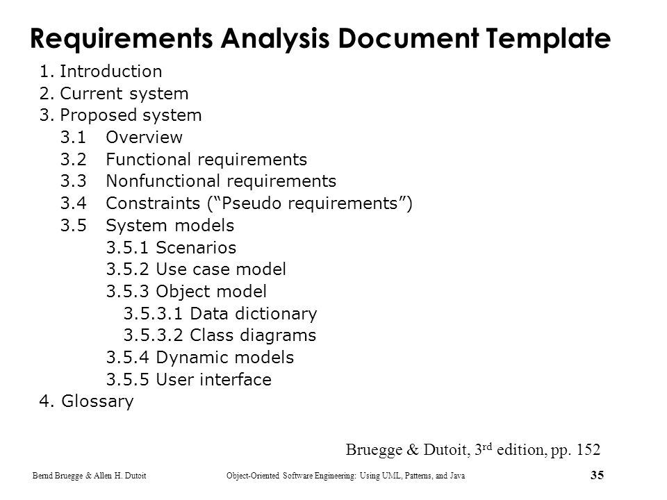 Requirements Analysis Document Template